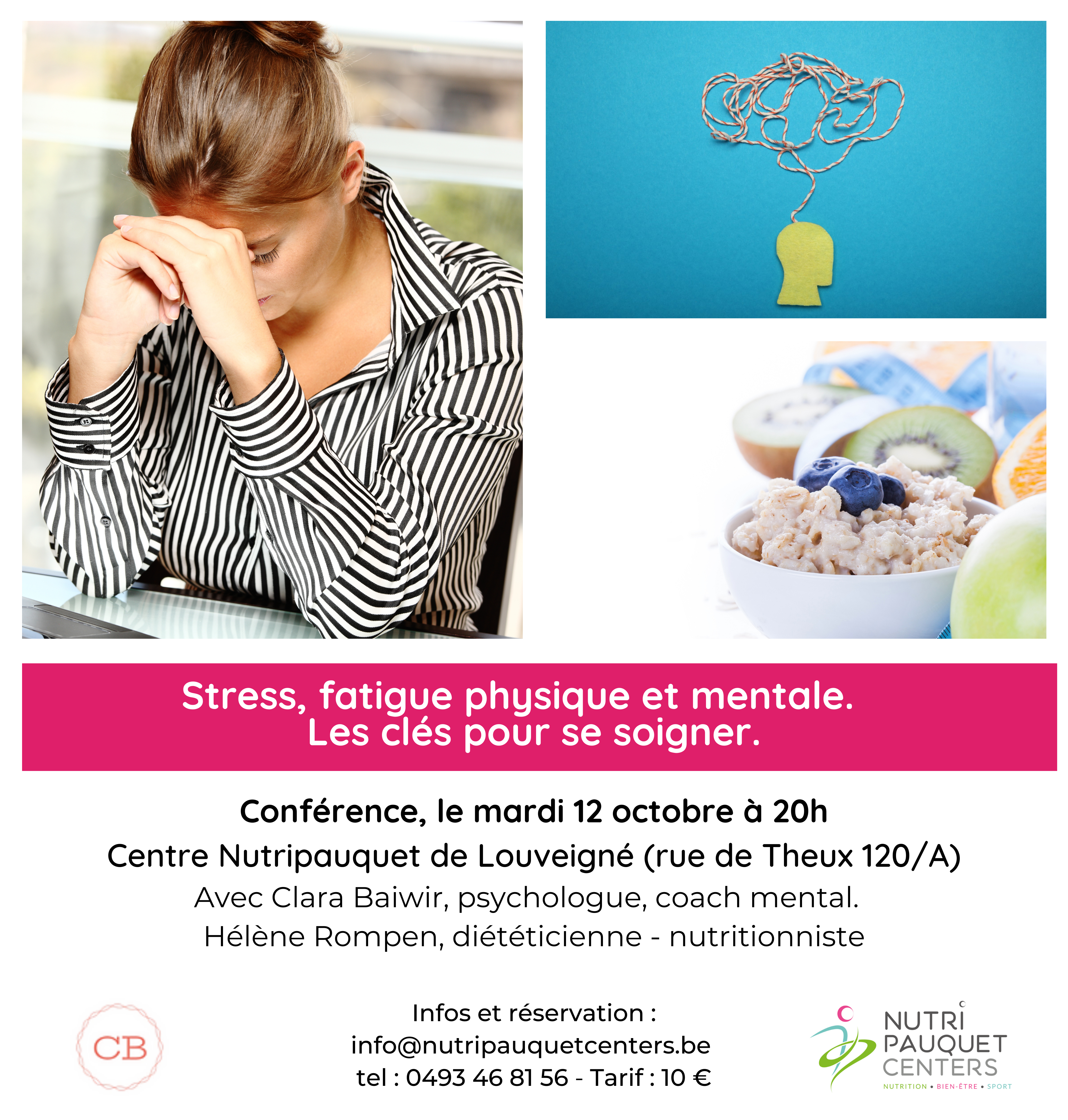 Conférence stress, fatigue mentale et physique.  Les clés pour se soigner.